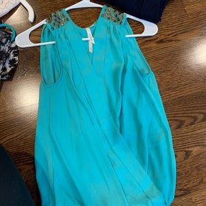 New Bellatrix Teal sleeveless blouse size Small